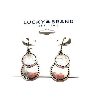《Lucky Brand》NEW Silver Dangle Earrings Boho Cute